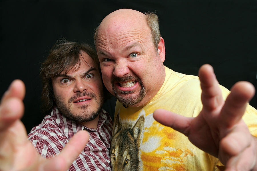 Actors Jack Black Left And Kyle Gass Photograph by New York Daily News Archive