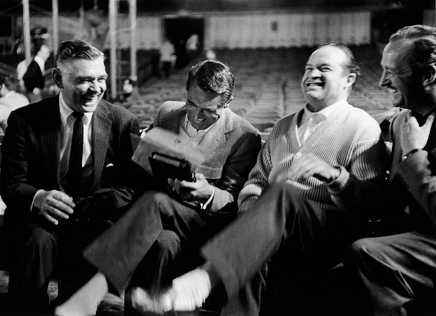 Actors L-r Clark Gable Cary Grant Bob Photograph by Leonard Mccombe