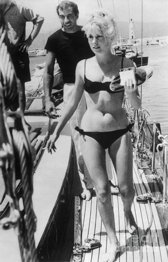 Actress Catherine Deneuve In Bikini Photograph by Bettmann