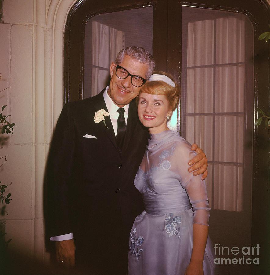 Actress Debbie Reynolds And Husband Photograph by Bettmann