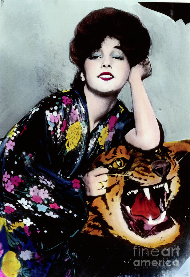 Actress Evelyn Nesbit Thaw On Tiger Rug Photograph by Bettmann