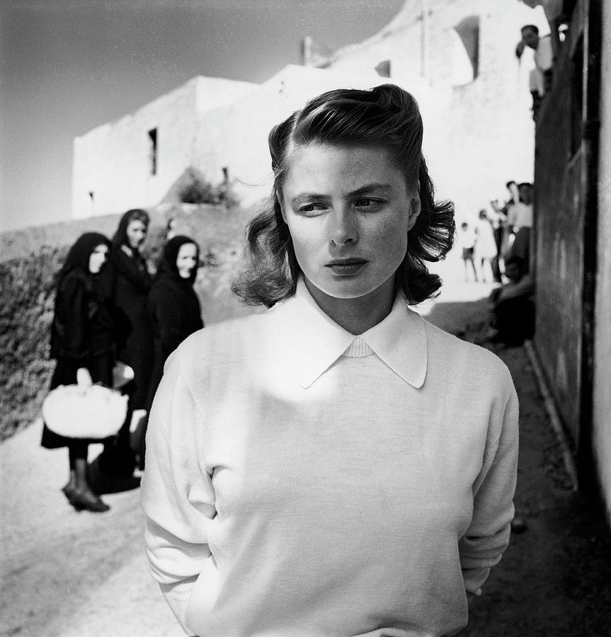 Actress Ingrid Bergman Attracting Photograph by Gordon Parks