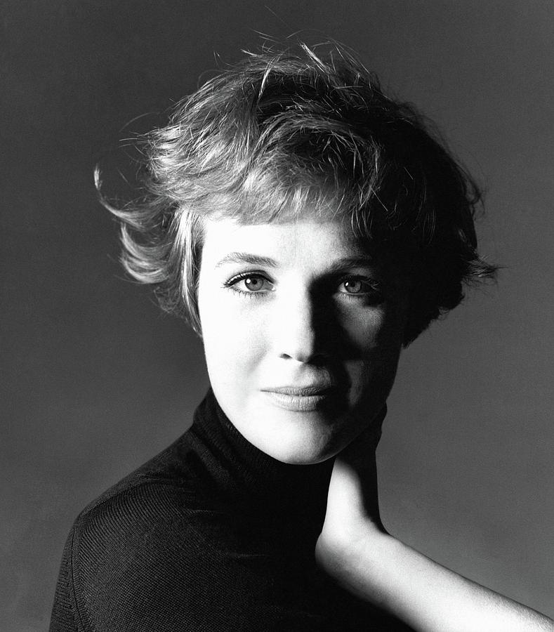 Actress Julie Andrews Wearing A Black Turtleneck Photograph by Bert Stern