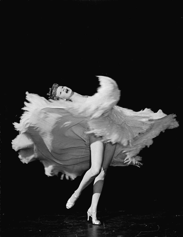 Actress Lucille Ball Dancing In Scene Photograph by John Florea