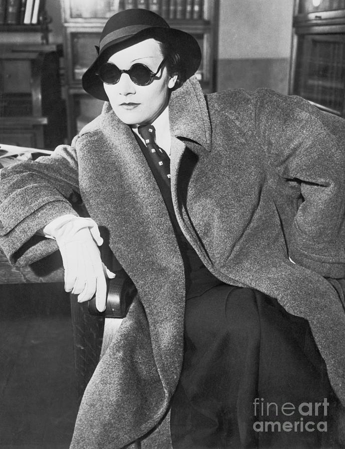 Actress Marlene Dietrich In Manly Photograph by Bettmann