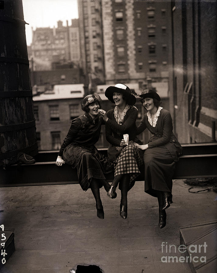 Actress Pickets Pose On Rooftop Photograph by Bettmann