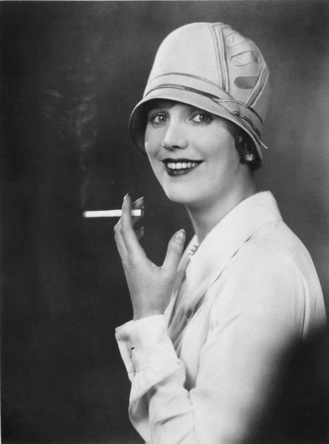 Actress Smoking Photograph by Sasha