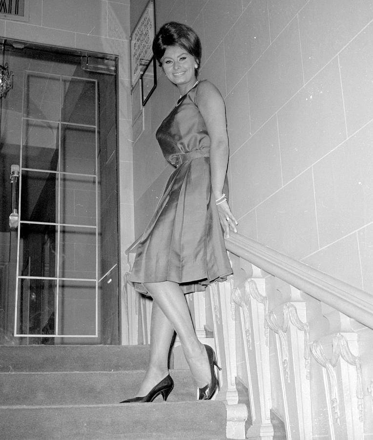Actress Sophia Loren At The Photograph by New York Daily News Archive