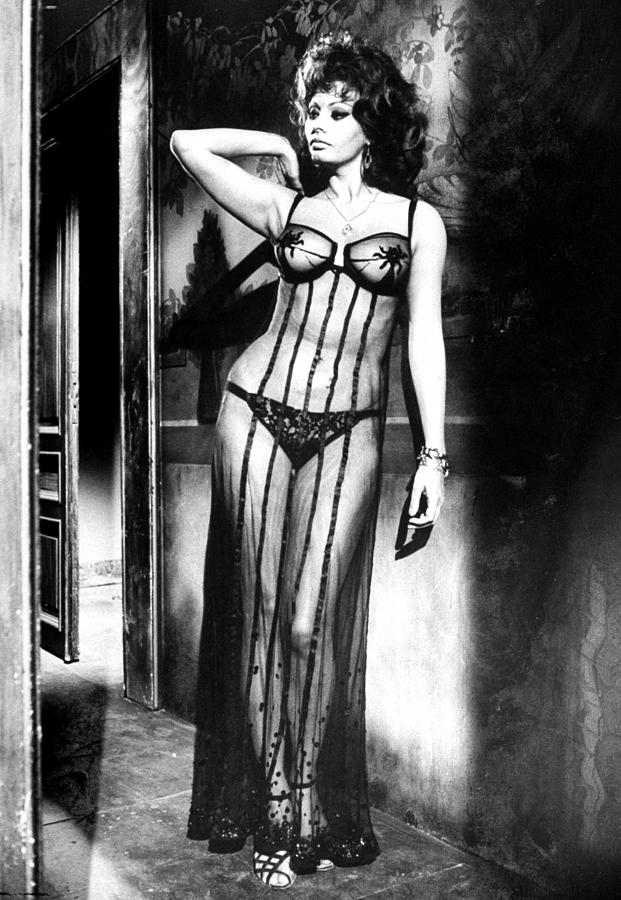Actress Sophia Loren Costumed In Sheer G Photograph by Alfred Eisenstaedt
