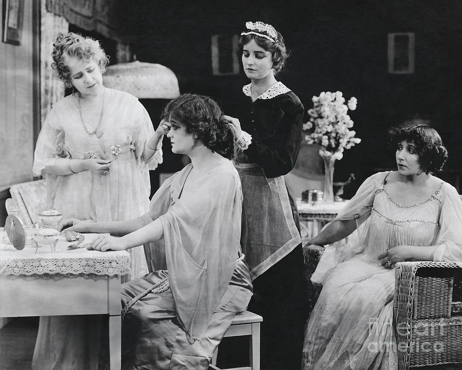 Actress Team In Bedroom Scene By Bettmann