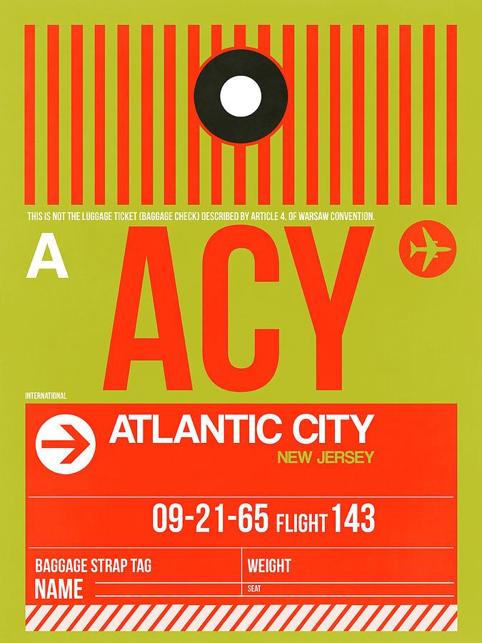 Vacation Digital Art - ACY Atlantic City Luggage Tag I by Naxart Studio
