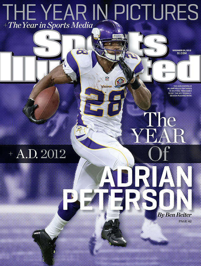 A.d. 2012 The Year Of Adrian Peterson Sports Illustrated Cover Photograph by Sports Illustrated