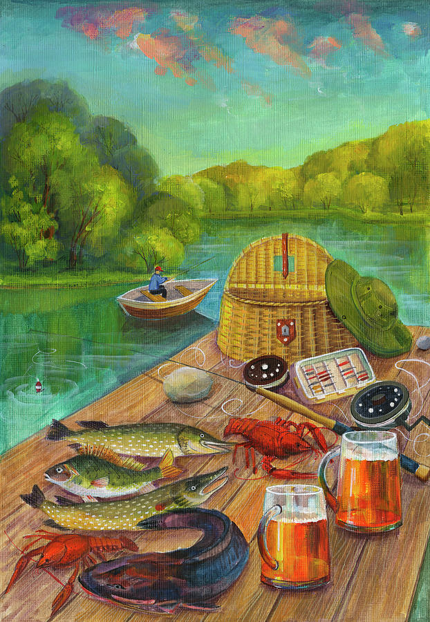 Fish Painting - A&d-5695 by Zpr Int?l