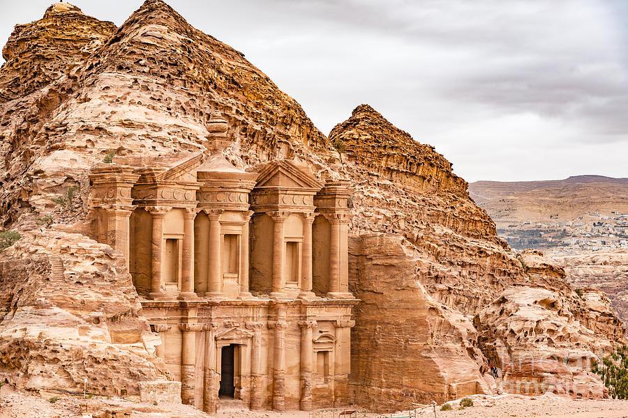 Islamic Photograph - Ad Deir In The Ancient City Of Petra by Richard Yoshida