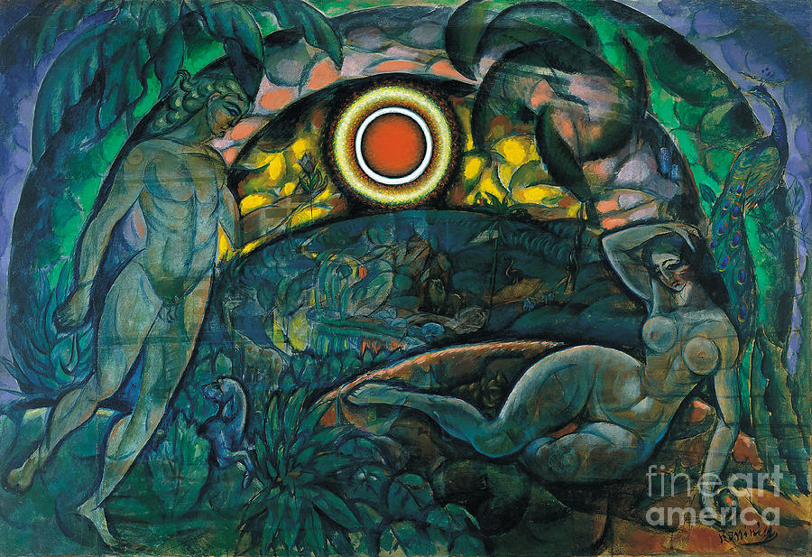 Adam And Eve, 1912. Artist Drawing by Heritage Images