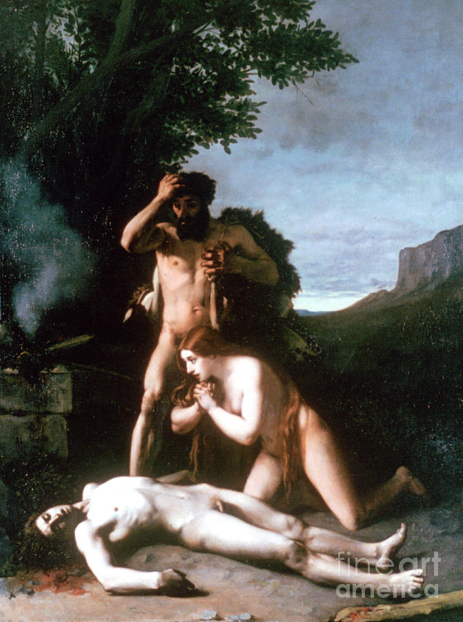 Adam And Eve Finding The Body Of Abel Drawing by Print Collector