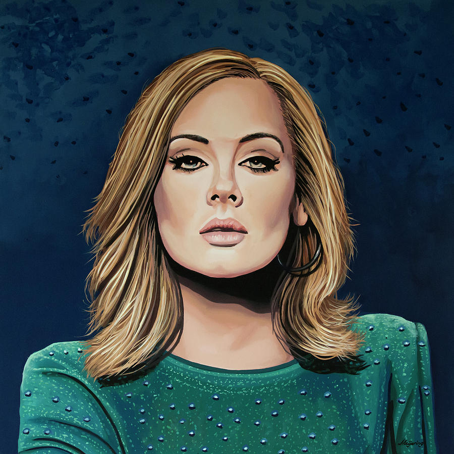 Adele Painting 3 by Paul Meijering