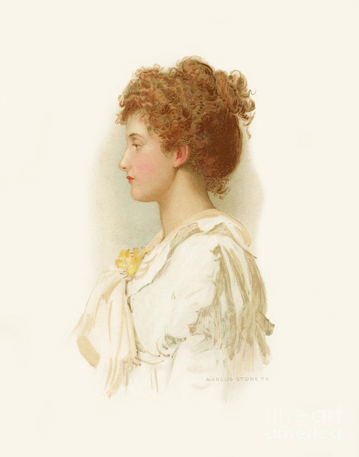 Adeline from the poem by Tennyson by Marcus Stone