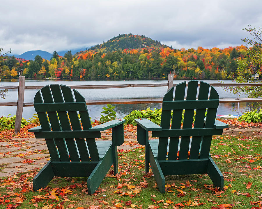 Adirondack Chairs In The Adirondacks Mirror Lake Lake