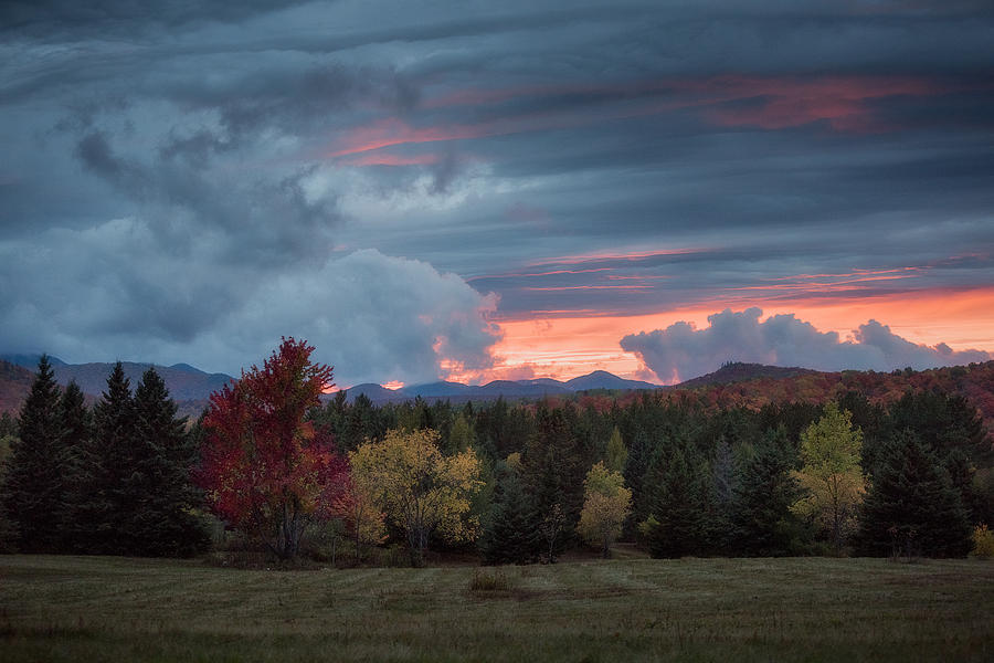 Adirondack Loj Road Sunset by Brad Wenskoski