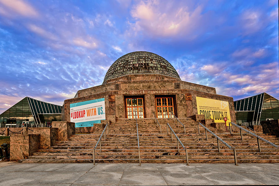Adler Planetarium at Sunset by Mitchell R Grosky