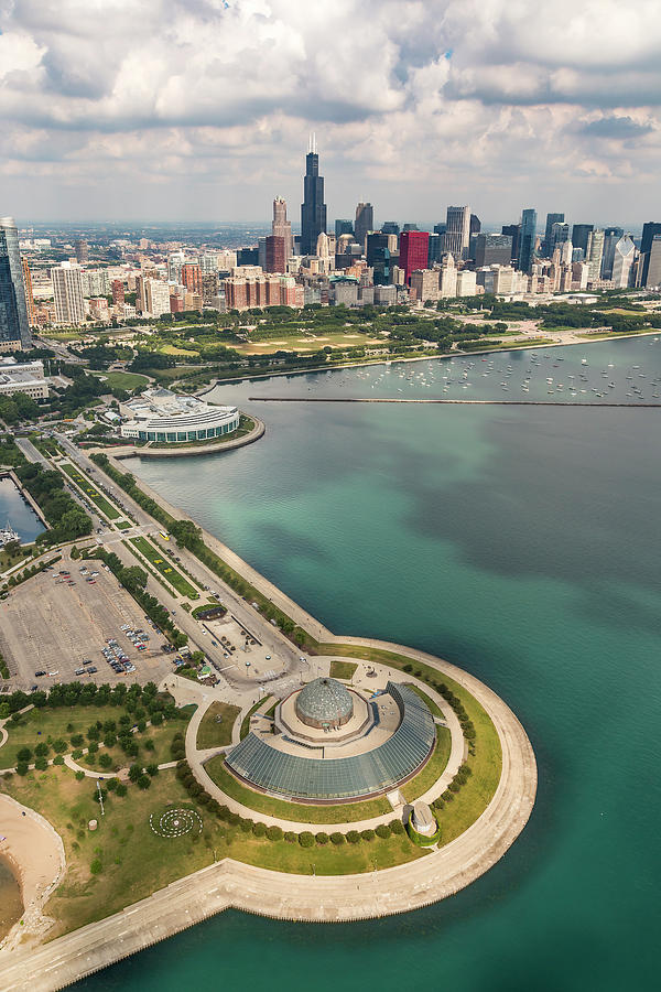 Adler Planetarium, Shedd, and Chicago Skyline by Adam Romanowicz