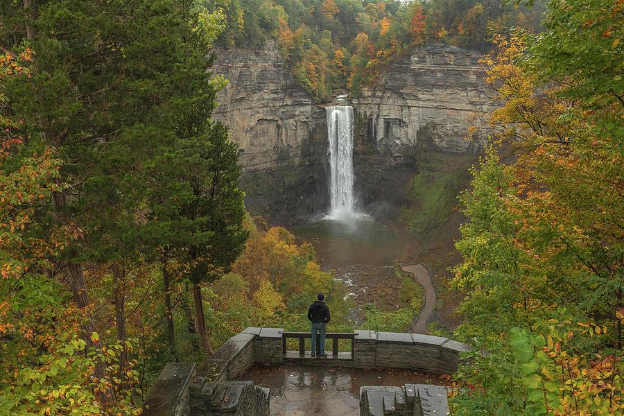 Admiring Taughannock Falls by Dan Sproul