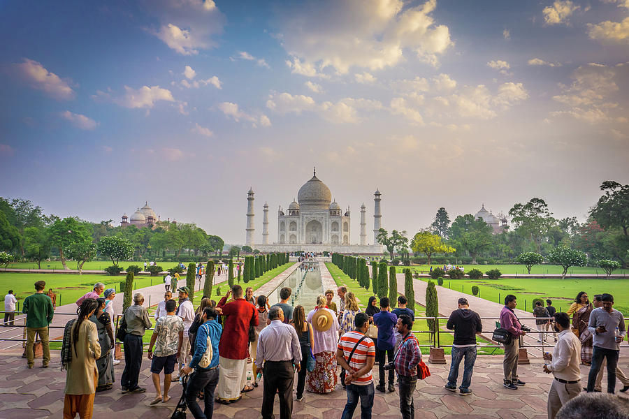 Admiring The Taj Mahal by Gary Gillette