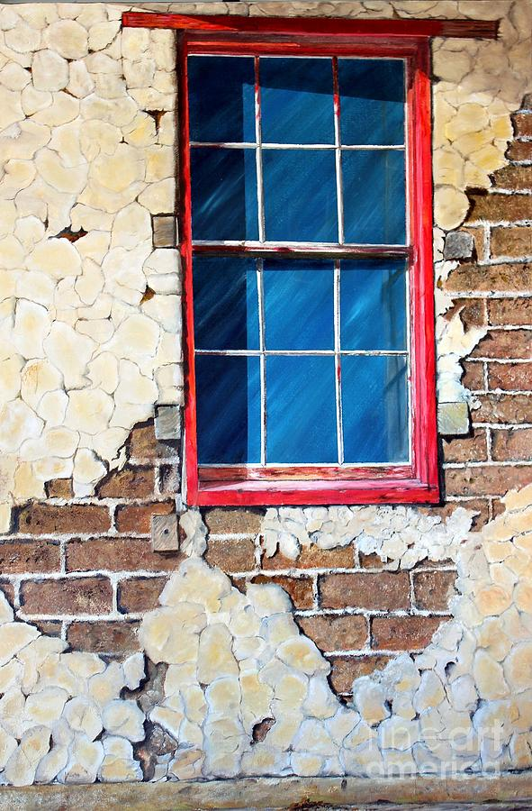 Adobe Barn Window by Anna-maria Dickinson