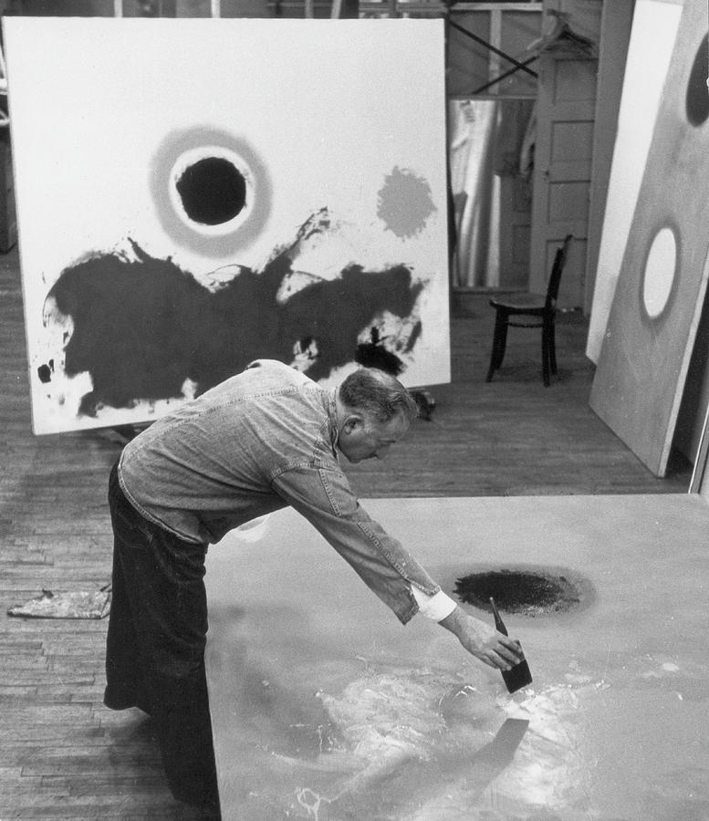 Adolph Gottlieb In His Studio Photograph by Fred W. McDarrah