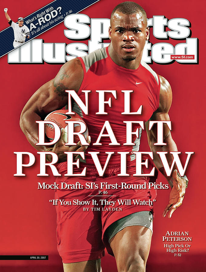 Adrian Peterson, Nfl Running Back Prospect Sports Illustrated Cover Photograph by Sports Illustrated