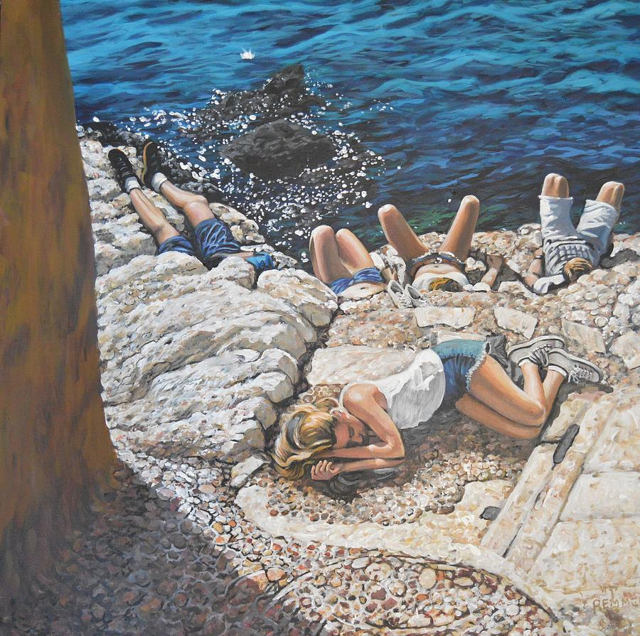 Adriatic Sun Painting by Dan Remmel