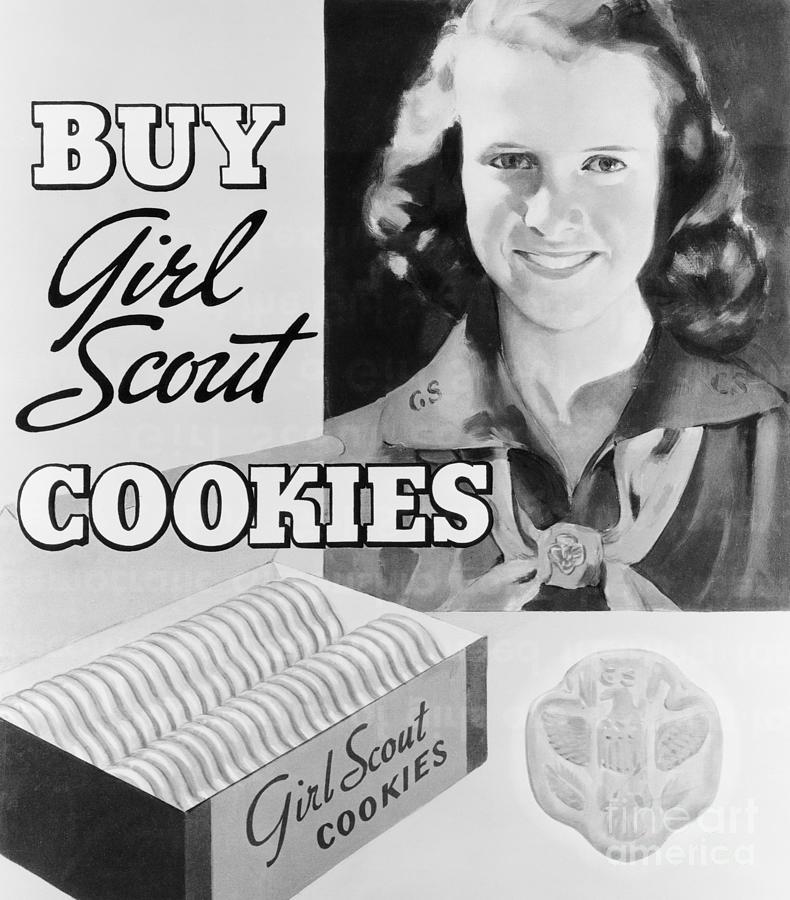 Advertisement Poster For Girl Scout Photograph by Bettmann