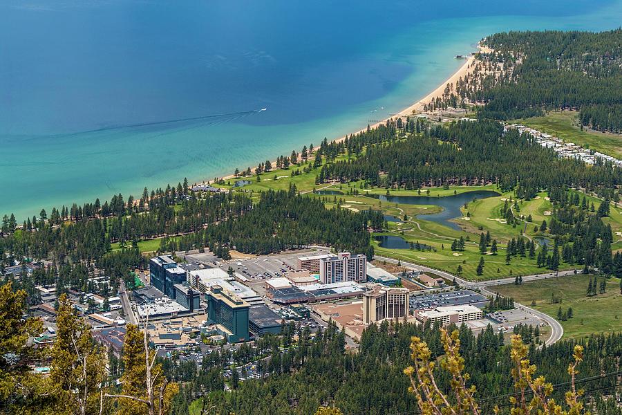 Aeerial View, Lake Tahoe, Usa Photograph by Stuart Dee