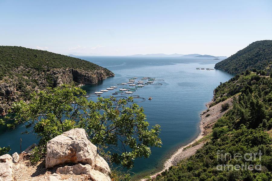 Aegean Sea coastline in Greece by Didier Marti