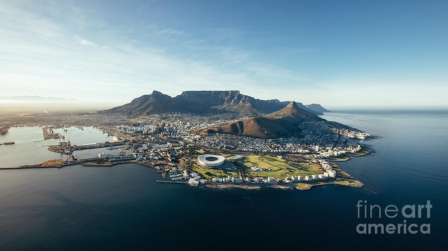 City Photograph - Aerial Coastal View Of Cape Town. View by Jacob Lund