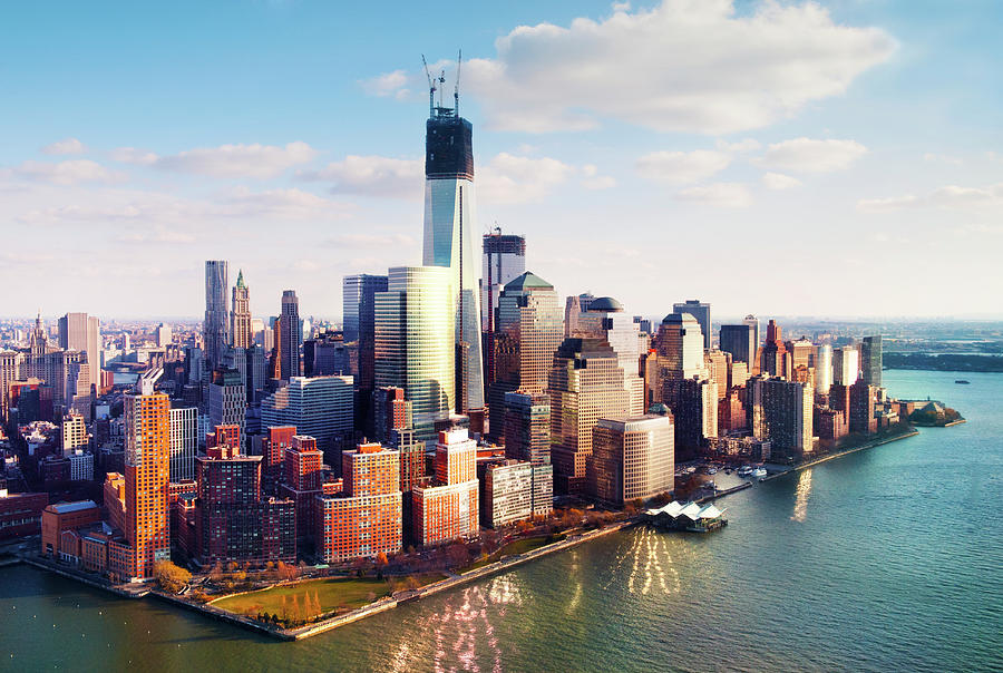 Aerial Image Of Lower Manhattan Skyline By Tony Shi Photography