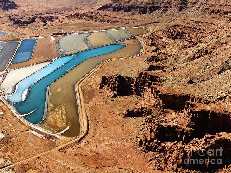 Pond Photograph - Aerial Landscape Of Tailing Ponds For by Iofoto