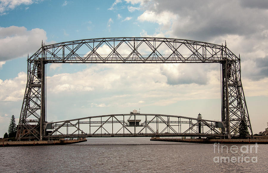 Aerial Lift Bridge-color by Pam  Holdsworth