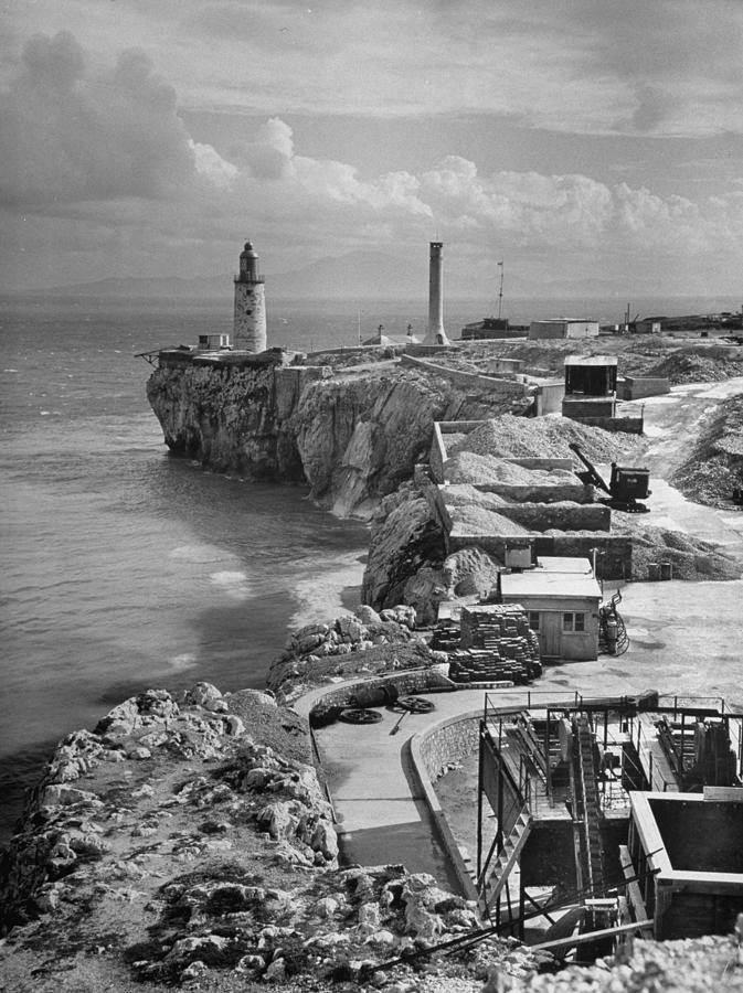Aerial Of Europa Point With Africa Dim I Photograph by Eliot Elisofon
