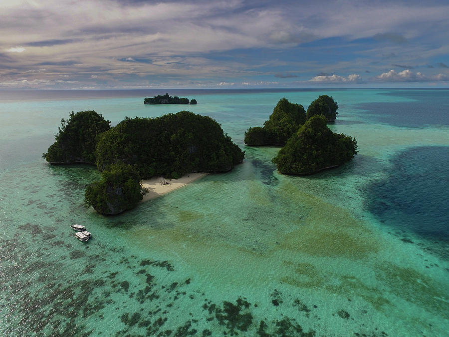 Aerial of the Rock Islands of Palau by Harry Donenfeld