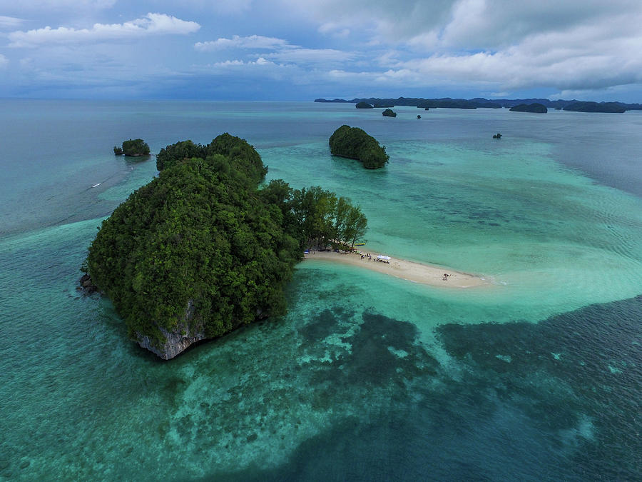 Aerial of Palau Rock Islands by Harry Donenfeld