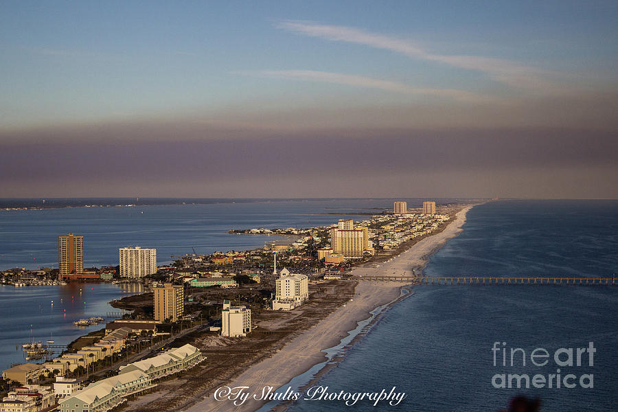 Aerial of Pensacola Beach by Ty Shults