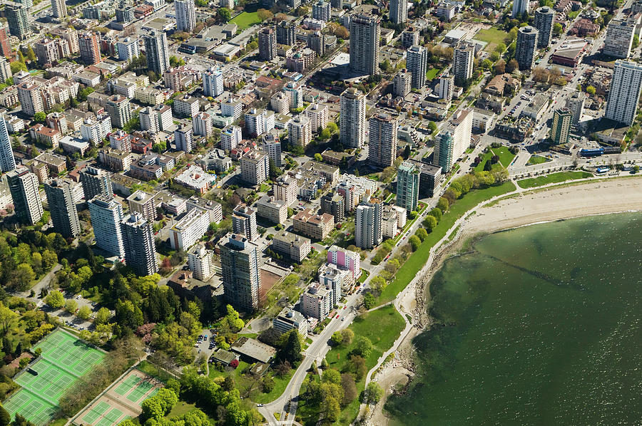 Aerial Of West End, Vancouver Photograph by Lucidio Studio, Inc.