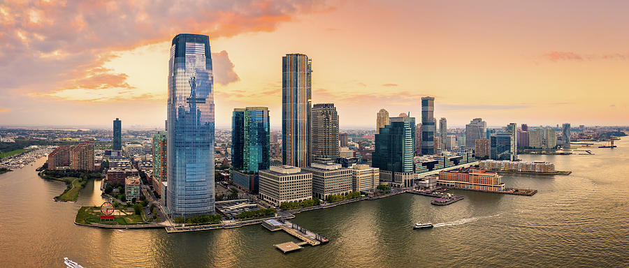 Aerial panorama of Jersey City by Mihai Andritoiu