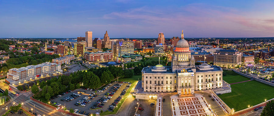 Aerial panorama of Providence, Rhode Island by Mihai Andritoiu