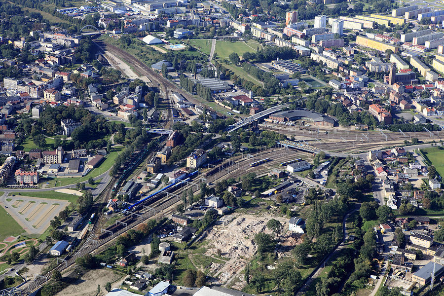 Aerial Photo Of Railroad Junction In Photograph by Dariuszpa