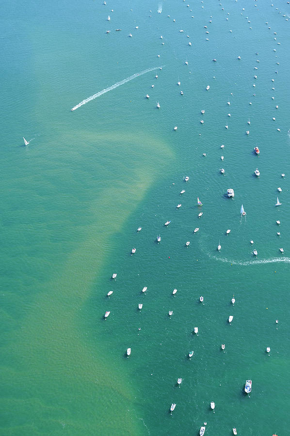 Aerial View, Bay Of Arcachon, Gironde Photograph by Frederic Pacorel