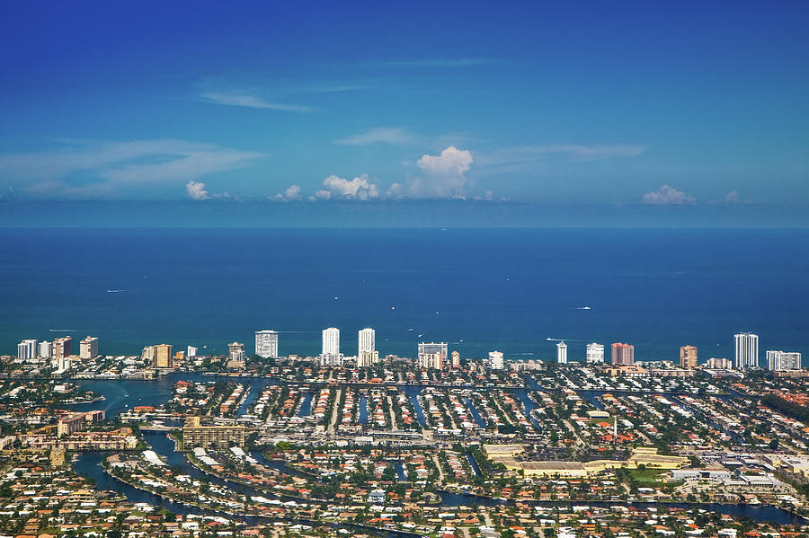 Aerial View Broward County Photograph by By Michael A. Pancier