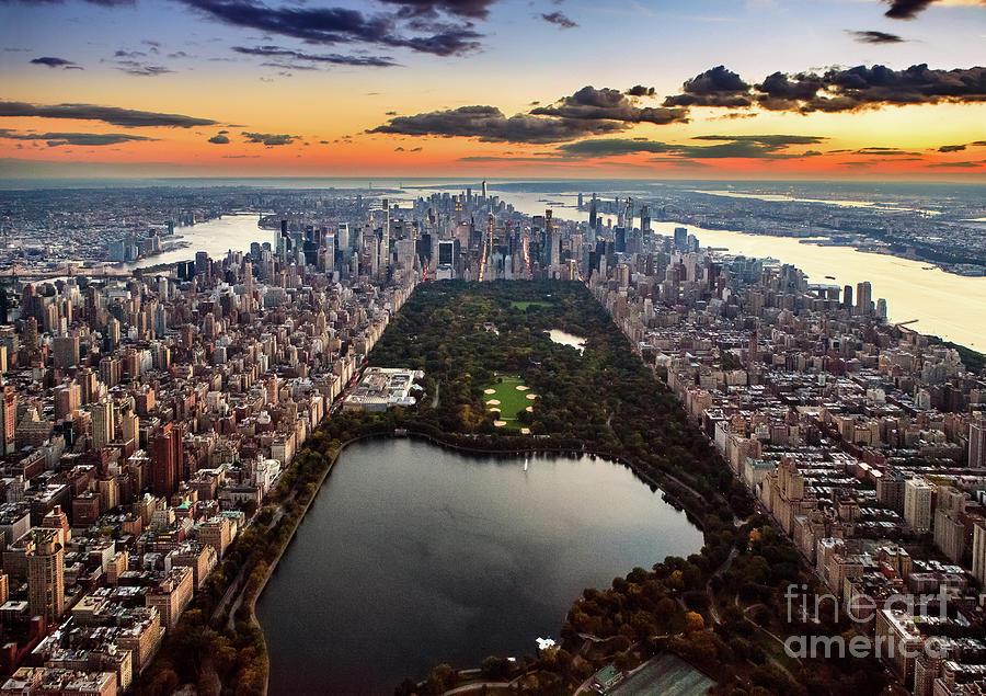 Aerial View - Central Park Photograph by Wojtek Zagorski
